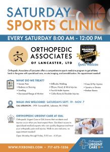 Orthopedic Associates Blue Cardinal Photography Ad